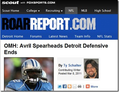 Ty of The Lions in Winter is again writing for the Roar Report at det.scout.com.