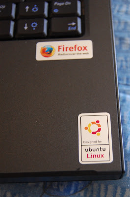 Ubuntu and Firefox Stickers