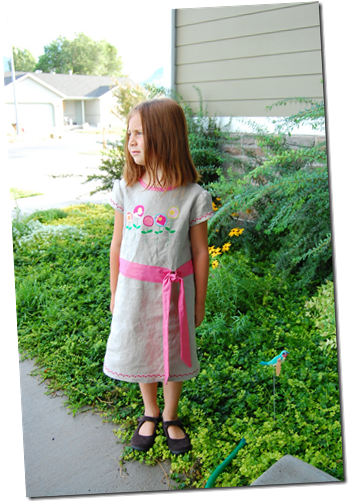 linen poppies dress