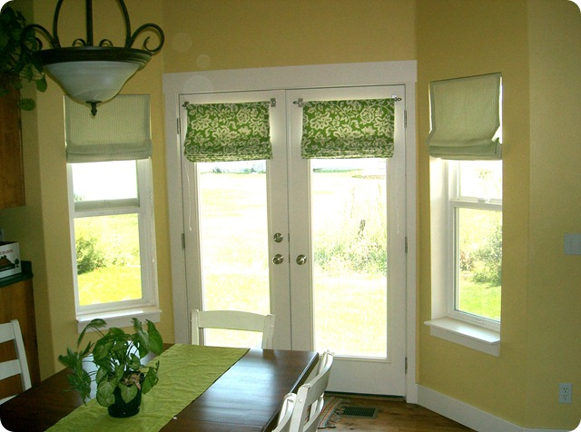 bay windows roman shades
