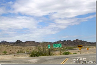Taking a right on SR78 from CR34, Picacho Rec. Area