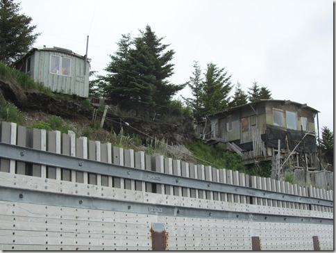 Homer, Alaska, homes on the edge.