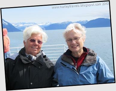 Gelinde and Nancy enjoying the cruise on the Valdez Spirit.