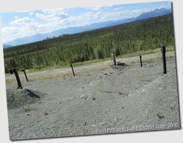 These vent pipes are a part of the cooperative experimental projects between American and Canadian engineers trying to change the traditional breakdown and resurfacing of the Alaska Highway.