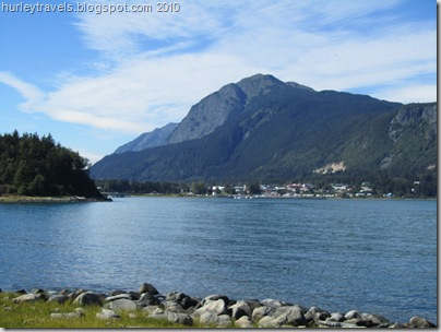 Haines, Alaska, in the distance, from just across Portage Cove, a part of Lynn Canal.