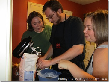 Lisa and Krissy give some helpful criticism for Darrell's mixing.