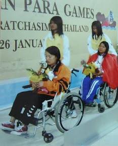 許麗萍在泰國殘疾亞運會中獲得銀牌