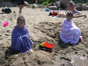 The twins at the beach 031