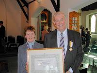 Michael Good Receives His Bene Merente Medal