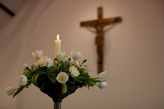 The Light Of Christ Present During The Marriage Service