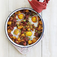 Sweet Potato, Chickpea & Chorizo Hash