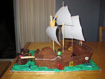 BigE Pirate Birthday Party Cake
