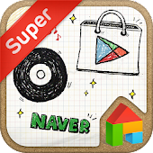 Free DrawingNote LINELauncher theme APK for Windows 8