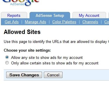 "make sure ""Allow any site to show ads for my account"" is checked"