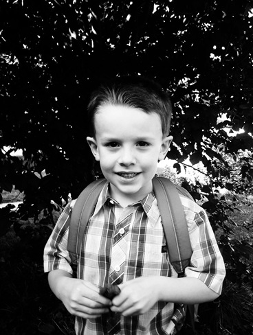 Jayden's 1st Day K Face bw