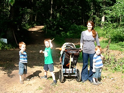 Amber and Boys Nature Trail2