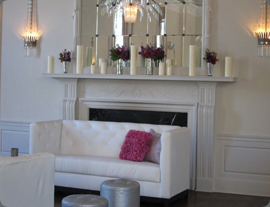 mantel-nika blush floral design