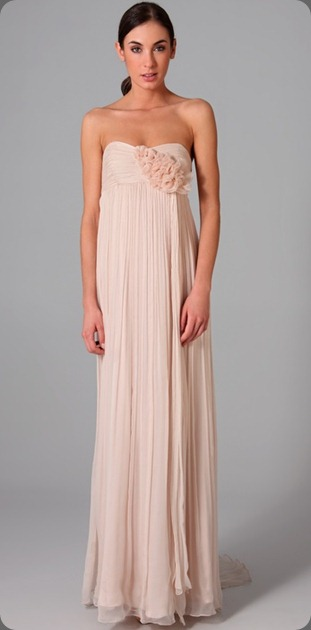 wedding dress shopbop.com via Blush Floral Design