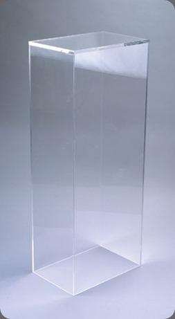 pedestal clear acrylic