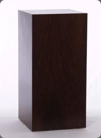 pedestal dark espresso wood