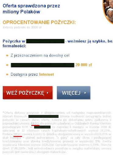 kredyt w sieci - reklama