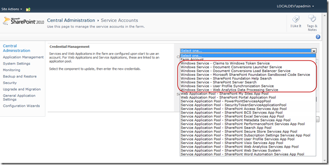 Configure Service Accounts