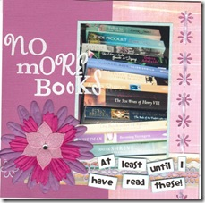 No more books