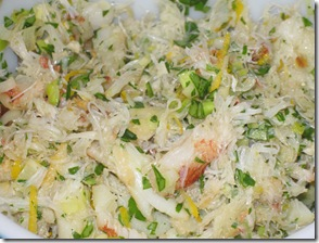 crab and leek pasta filling