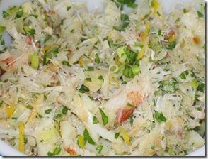 crab and leek pasta filling
