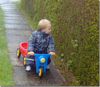 Birk på motorcykel