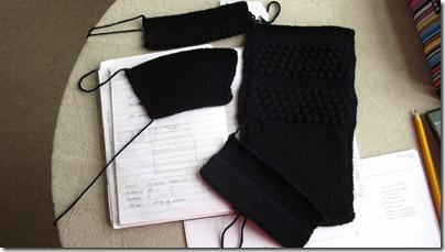 Sømandssweater,-strikkeprøv