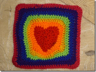078 crochet heart square
