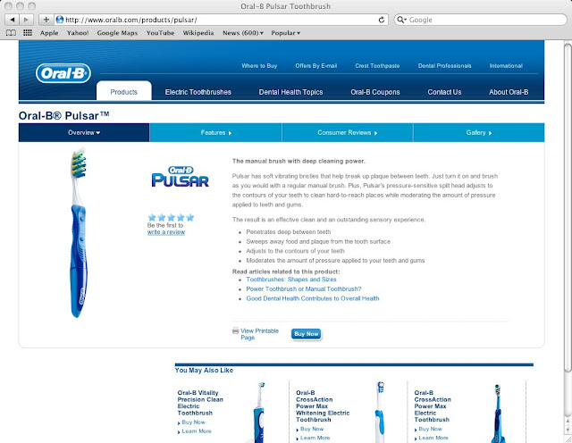 "Oral-B ""Pulsar"" electric Toothbrush"
