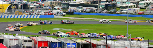 GT cars race at the same