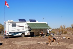 ONE OF OUR 3 BOONDOCKING SPOTS IN QUARTZITE, ARIZONA