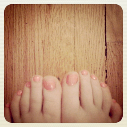 Monday April 18: nothing like freshly painted toes and yoga to improve your mood