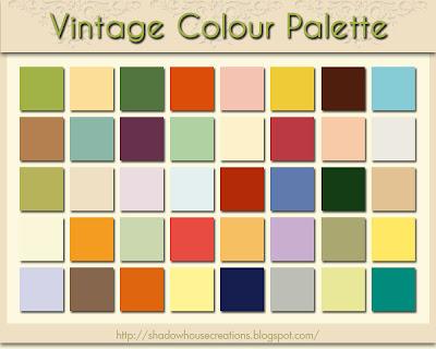 shadowhouse creations vintage colour palette. Black Bedroom Furniture Sets. Home Design Ideas