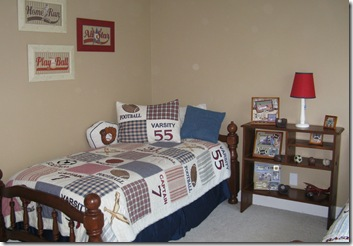 boys bed and bookcase