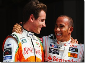 Adrian Sutil Lewis Hamilton_Italy