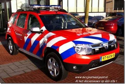 Dacia Duster als brandweer 01