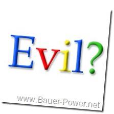 evil google logo