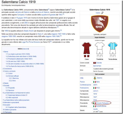 wikipedia salernitana pellegrini