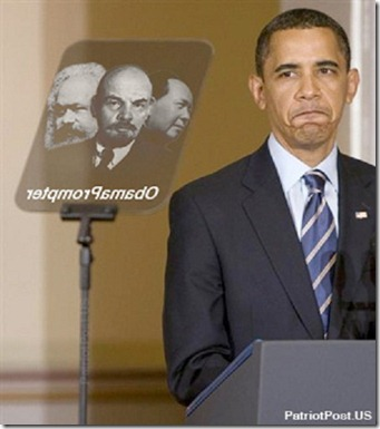 Obama Marxist-Teleprompter