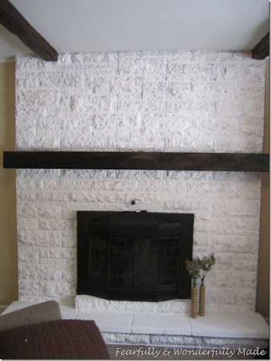 The Making of a Slip Covered Mantel - FEARFULLY & WONDERFULLY MADE