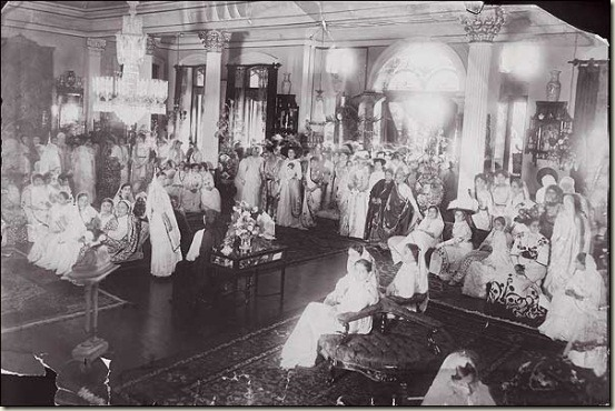 a gathering of women in a party Bombay 1910