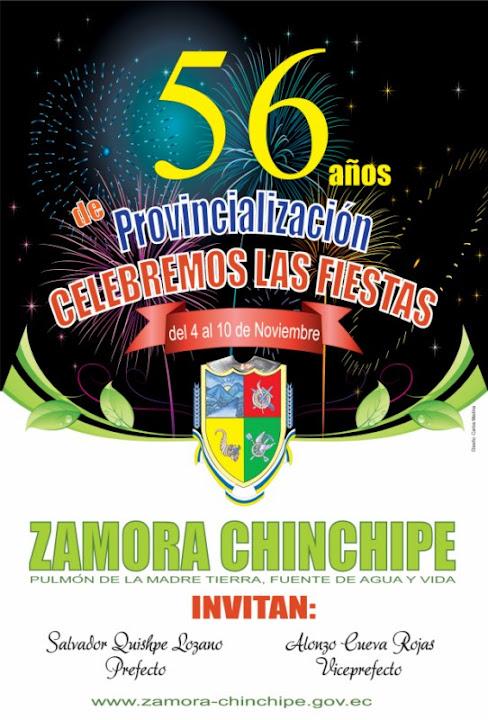 56 años de Provincialización Zamora Chinchipe