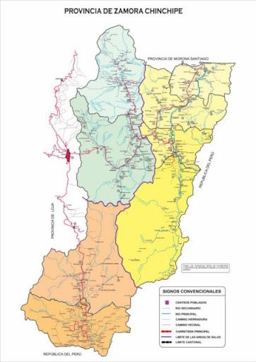Mapa Político de Zamora Chinchipe