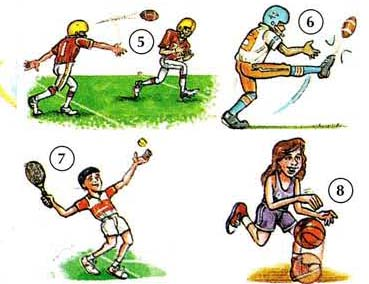 sport exercise actions  dictionary  kids