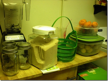 All the suppilies to get ready for my first canning adventure.