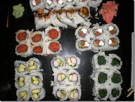 You can totally tell which maki are mine.